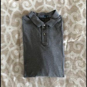 Polo by Ralph Lauren Gray LS Polo Shirt 3XLT